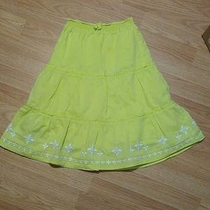 Girls Gymboree green skirt size 8